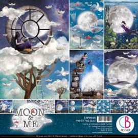 "Ciao Bella Double-Sided Paper Pack 90lb 12""X12"" 12/Pkg Moon & Me, 12 Designs/1 Each12""X12"" 12/Pkg Hipster, 12 Designs/1 Each"