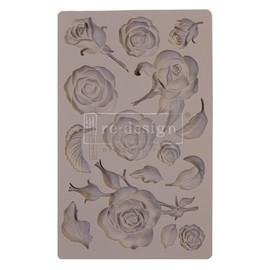 "Prima Marketing Re-Design Mould Fragrant Roses  5""X8""X8mm"