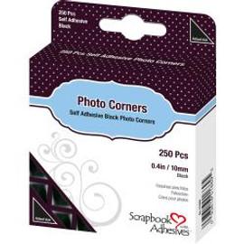 "Scrapbook Adhesives Photo Corners Self-Adhesive black .375"" 250/Pk"