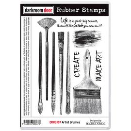 Darkroom Door Rubber Stamp Set - Artist Brushes
