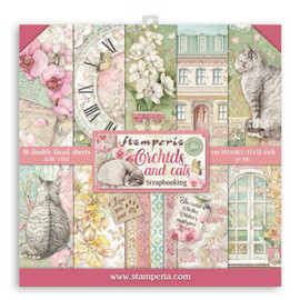 Stamperia Orchids and Cats paper Pack 12x 12