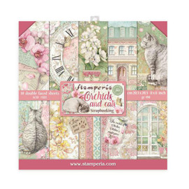 Stamperia Orchids and Cats paper Pack 8x8