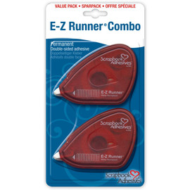 EZ Runner Permanent Scrapbooking Adhesive White value pack