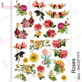 Dress MY Craft Transfer Sheet A4 - Roses