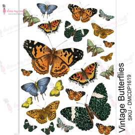Dress MY Craft Transfer Sheet A4 - Vintage Butterflies