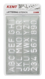 Kent 20mm Lettering Stencil set
