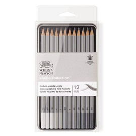 Winsor Newton Graphic Pencil Tin set 12