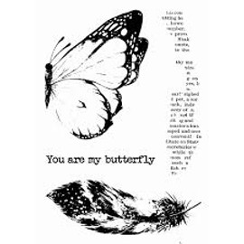 13 Arts Mixed Media A6 Stamp - You are my butterfly