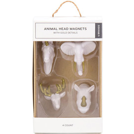 Animal Head Magnets set 4