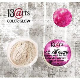 13@rts Color Glow Ruby Metallic Water colour Paint Powder
