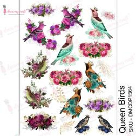 Dress MY Craft Transfer Sheet A4 - Queen Birds