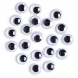 Paste-On Wiggle Eyes 7mm 20Pkg Black
