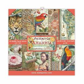 Stamperia Amazonia paper Pack 8x 8