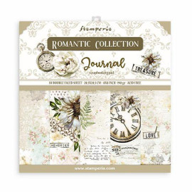 Stamperia Romantic Journal paper Pack 8 x 8