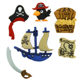 Dress It Up Pirate Buttons