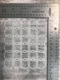 Imagine If Stencil - Linked Circles Texture