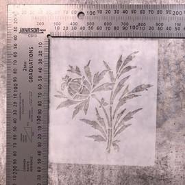 Imagine If Stencil - Bulb Flower Plant