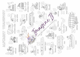 Giant Colouring In Poster #17 - Alphabet Transport