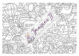 Giant Colouring In Poster #1 - Happy Birthday