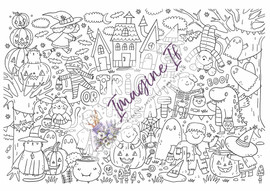 Giant Colouring In Poster: Trick Or Treat