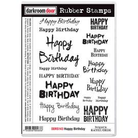 Darkroom Door Rubber Stamp Set - Happy Birthday