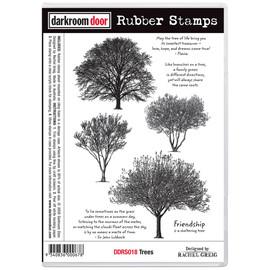 Darkroom Door Rubber Stamp Set - Trees