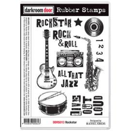 Darkroom Door Rubber Stamp Set - Rockstar
