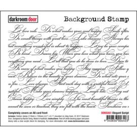 Darkroom Door Background Rubber Stamp Set - Elegant Script