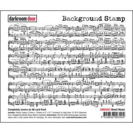Darkroom Door Background Stamp - Sheet Music