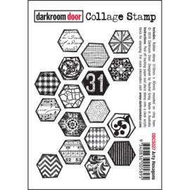 Darkroom Door Collage Stamp - Arty Hexagons