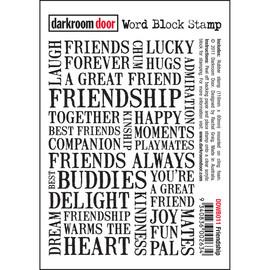 Darkroom Door Word Block- Friendship