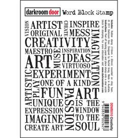 Darkroom Door Word Block- Creativity