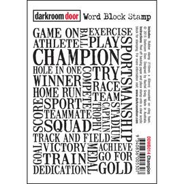 Darkroom Door Word Block- Champion
