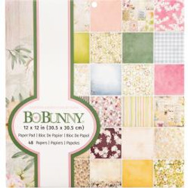 "BoBunny Single-Sided Paper Pad 12""X12"" 48/Pkg Garden Grove, 24 Designs/2 Each"