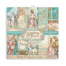Stamperia Sleeping Beauty paper Pack 8 x 8