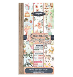 Stamperia Celebration Collectables 10 Sheets 15 x 30.5