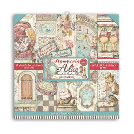 Stamperia Alice through the looking glass paper Pack 6 x 6