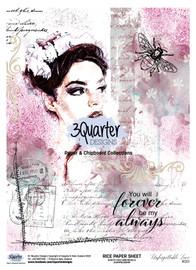 3Quarter Designs Rice Paper - Unforgettable Love No 1