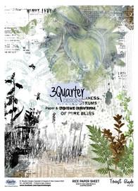 3Quarter Designs Rice Paper - Forest Glade No 1
