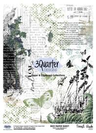 3Quarter Designs Rice Paper - Forest Glade No 2