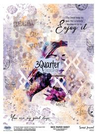 3Quarter Designs Rice Paper - Sunset Journal No 2