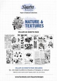 3Quarter Designs Nature and Textures Vellum 12pk
