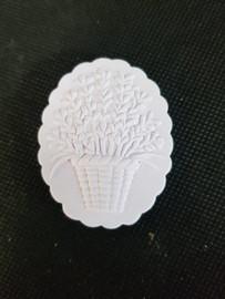Plaster Flower Oval