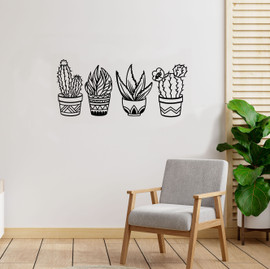Lasercut Acrylic Wall Art - Set of 4 Plants
