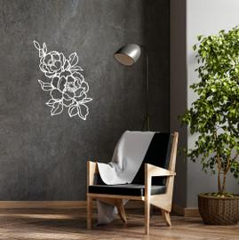 Lasercut Acrylic Wall Art Floral - Amelia