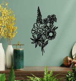 Lasercut Acrylic Wall Art Bouquet - Beth