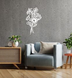 Lasercut Acrylic Wall Art Bouquet - Delta