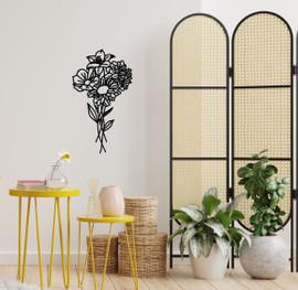 Lasercut Acrylic Wall Art Bouquet - Freya