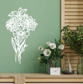 Lasercut Acrylic Wall Art Bouquet - Gemma