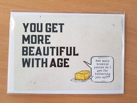 Quirky Greeting Card + Envelope - Beautiful Age